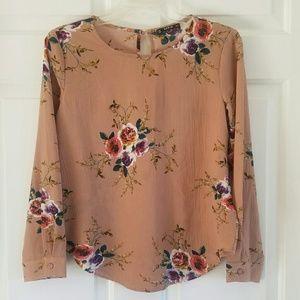 Shein/ pretty floral blouse